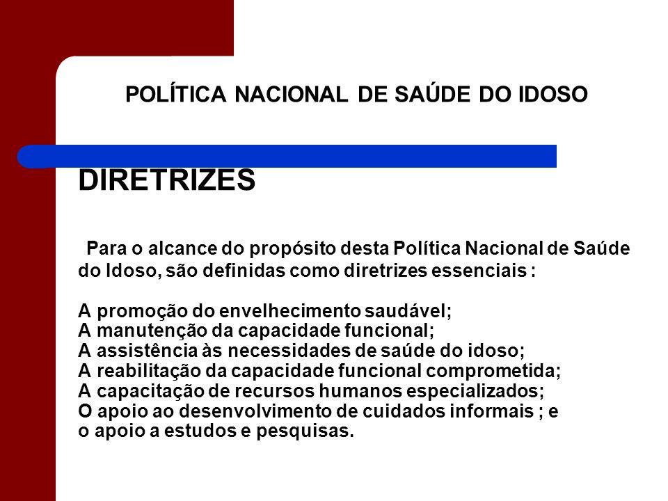POLÍTICA NACIONAL DE SAÚDE DO IDOSO
