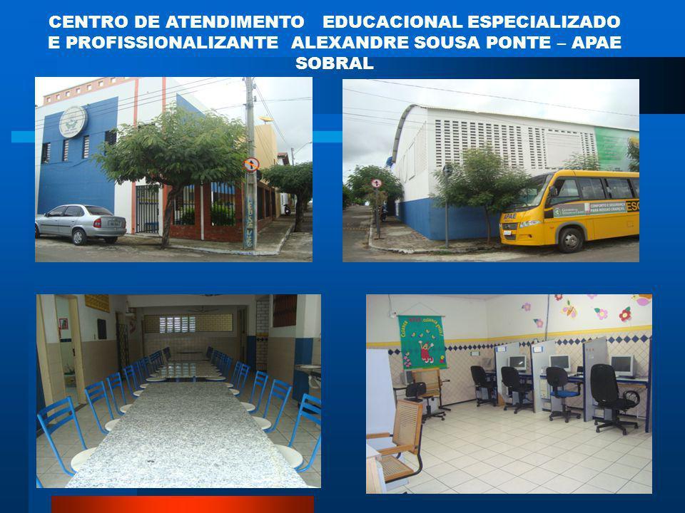 CENTRO DE ATENDIMENTO EDUCACIONAL ESPECIALIZADO E PROFISSIONALIZANTE ALEXANDRE SOUSA PONTE – APAE SOBRAL