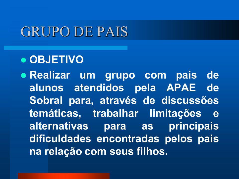 GRUPO DE PAIS OBJETIVO.