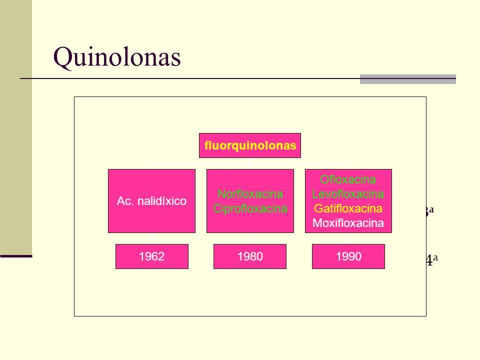 Quinolonas 1a 2a 3a 4a