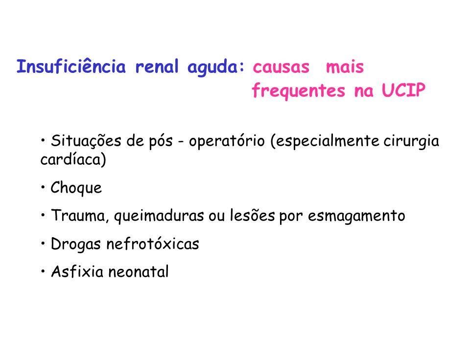 Insuficiência renal aguda: causas mais frequentes na UCIP