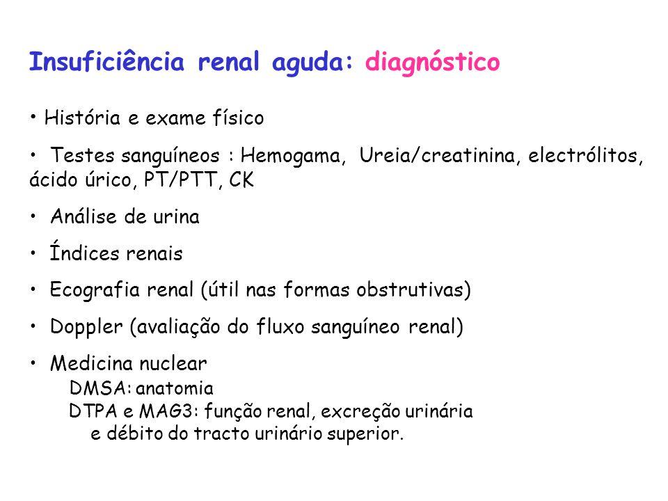 Insuficiência renal aguda: diagnóstico
