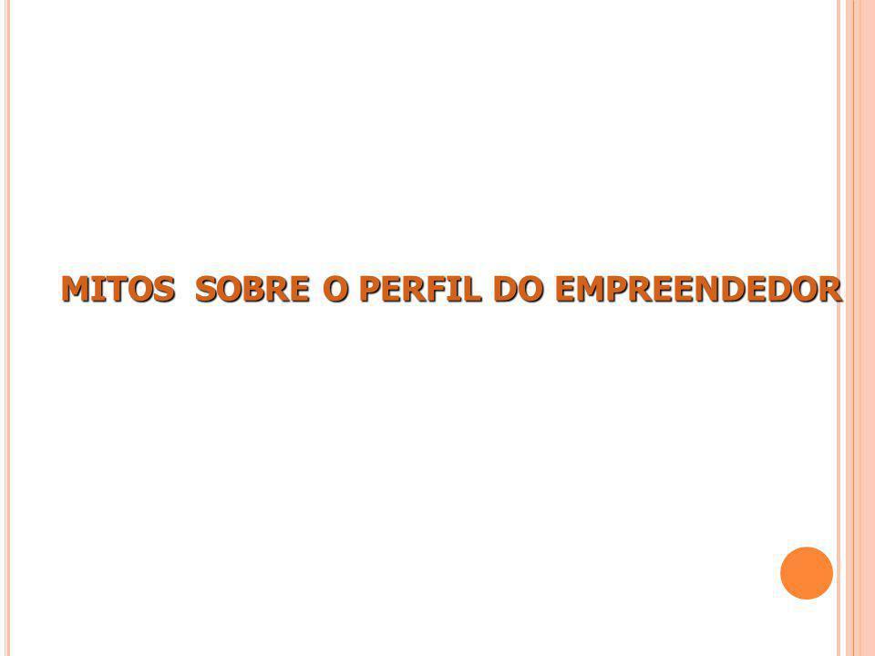 MITOS SOBRE O PERFIL DO EMPREENDEDOR