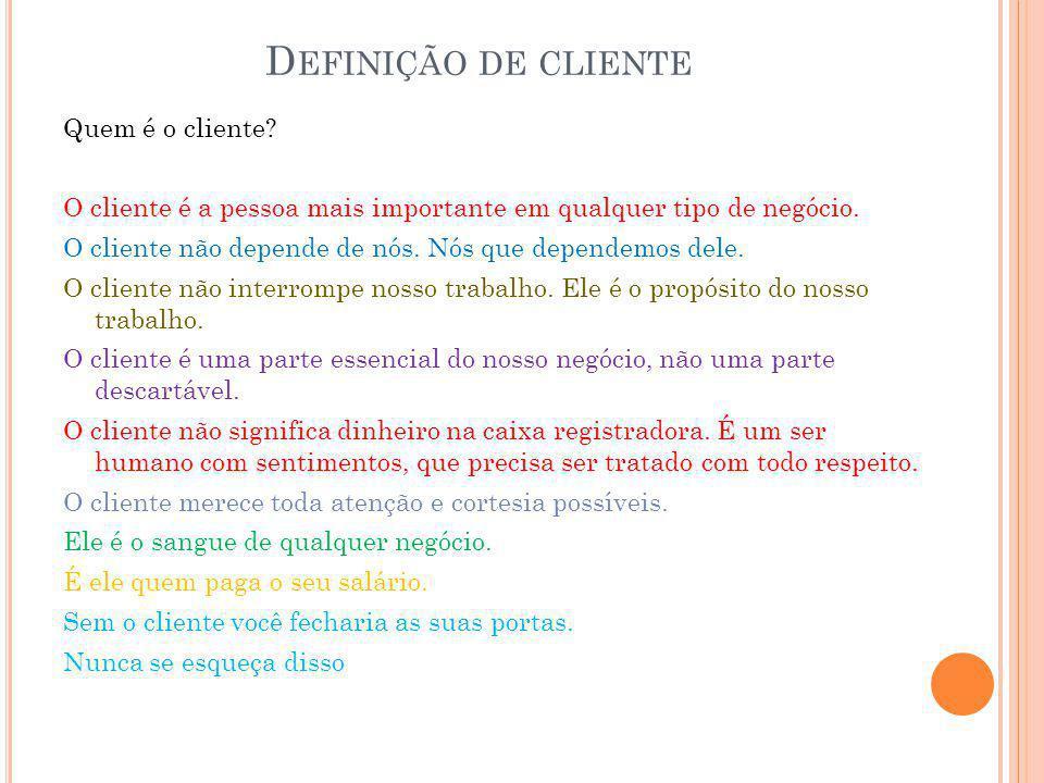 Definição de cliente