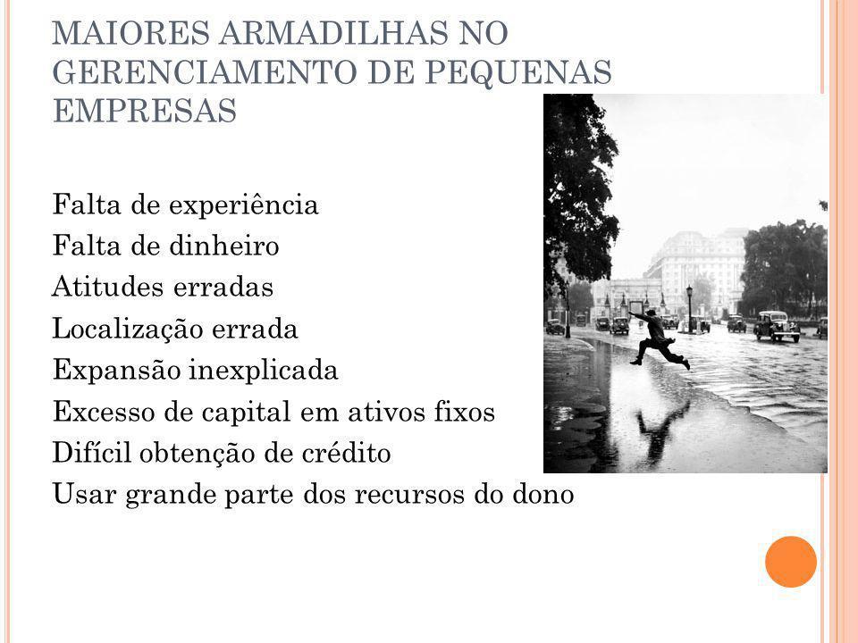 MAIORES ARMADILHAS NO GERENCIAMENTO DE PEQUENAS EMPRESAS