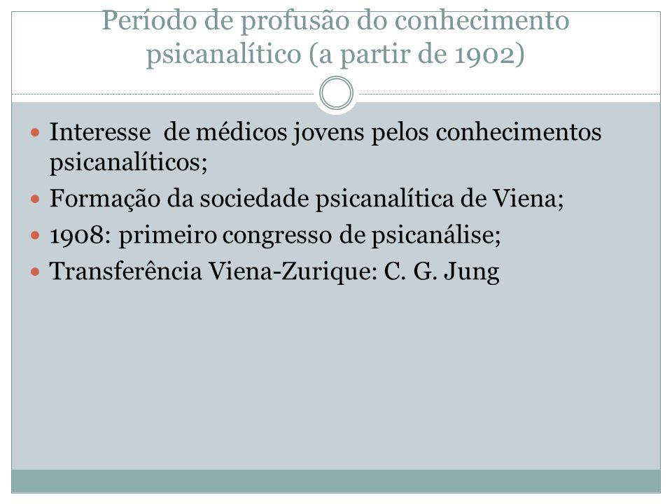 Período de profusão do conhecimento psicanalítico (a partir de 1902)