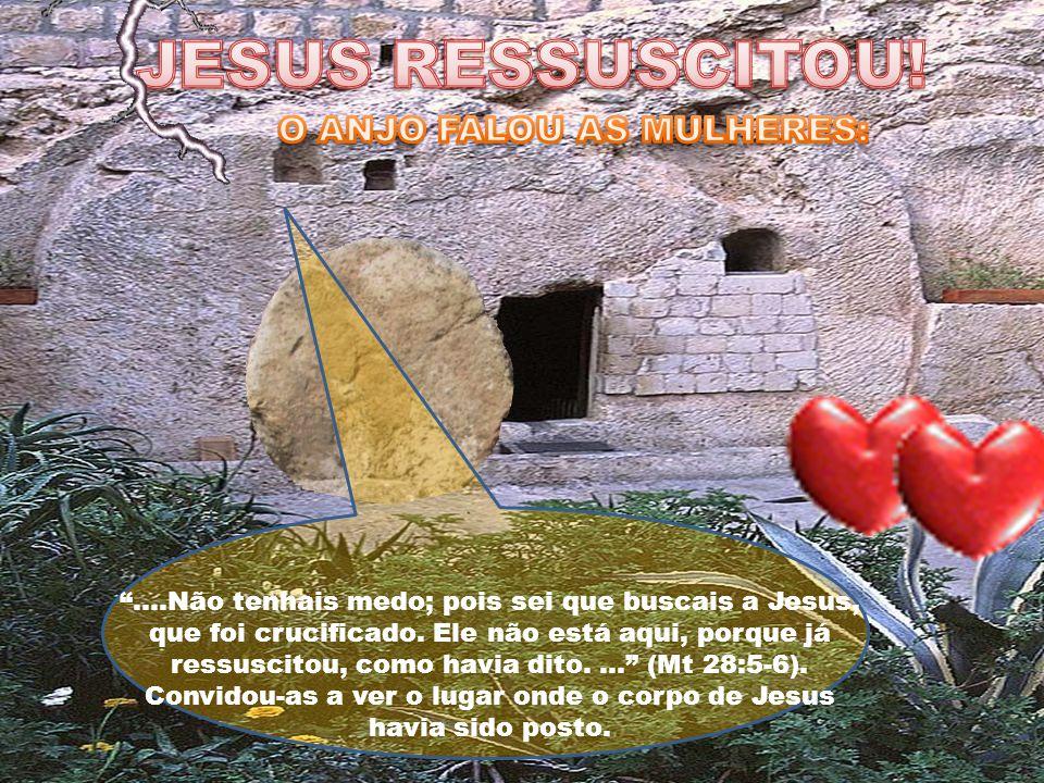 JESUS RESSUSCITOU! O ANJO FALOU AS MULHERES:
