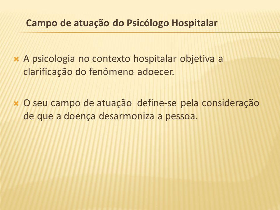 Campo de atuação do Psicólogo Hospitalar