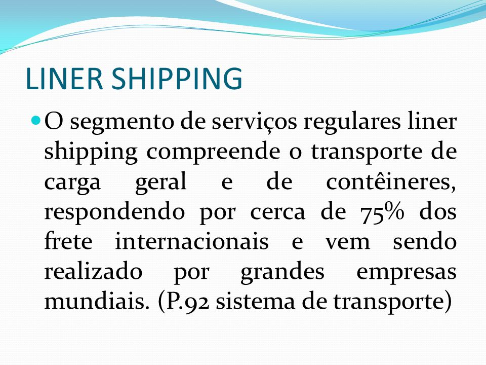 LINER SHIPPING