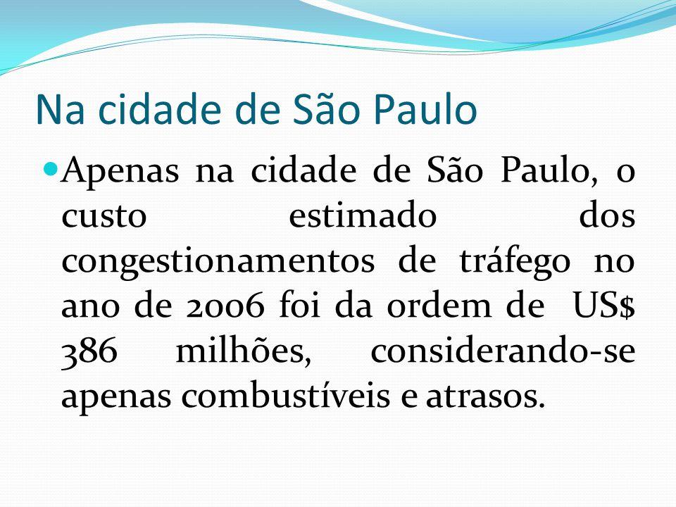 Na cidade de São Paulo