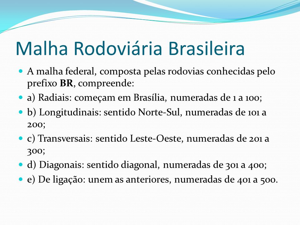 Malha Rodoviária Brasileira