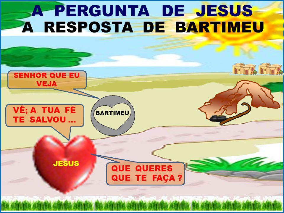 A PERGUNTA DE JESUS A PERGUNTA DE JESUS JESUS LHE DISSE: