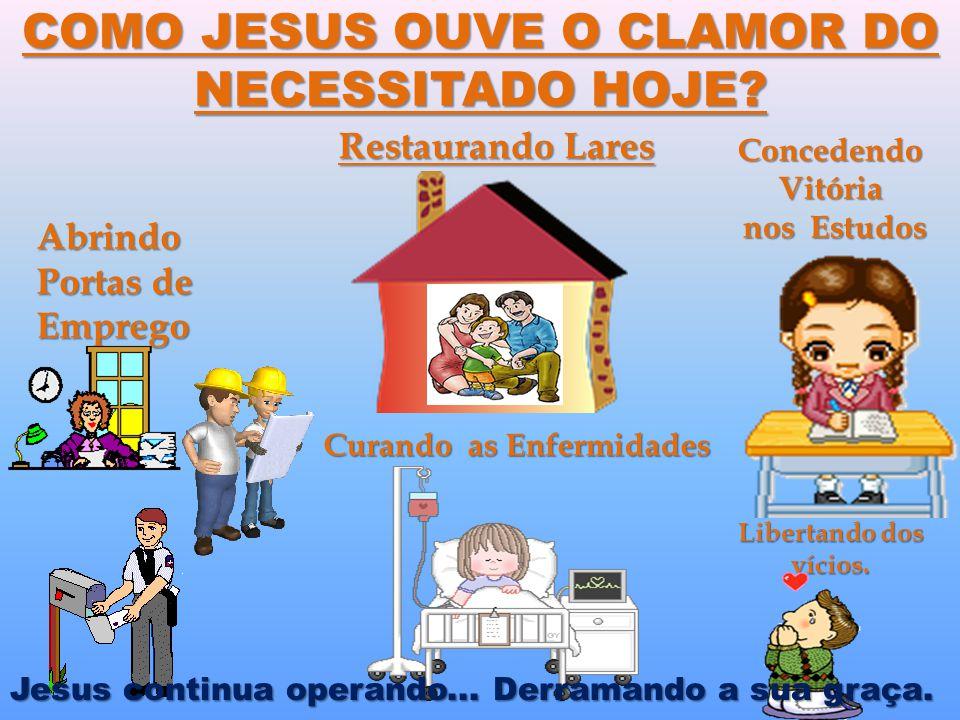 COMO JESUS OUVE O CLAMOR DO NECESSITADO HOJE