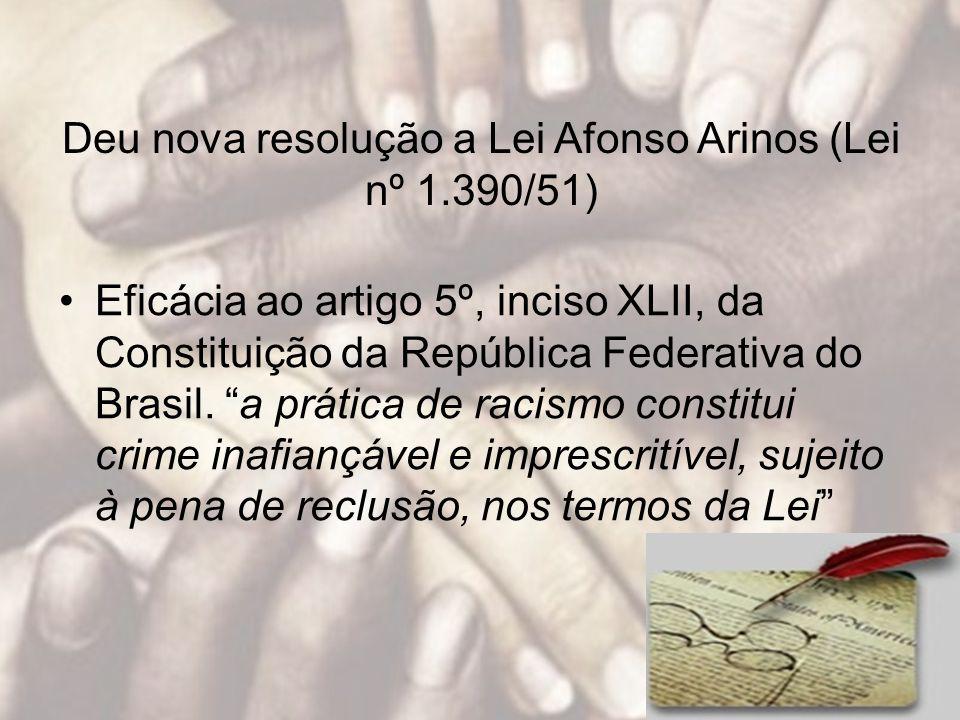 Deu nova resolução a Lei Afonso Arinos (Lei nº 1.390/51)