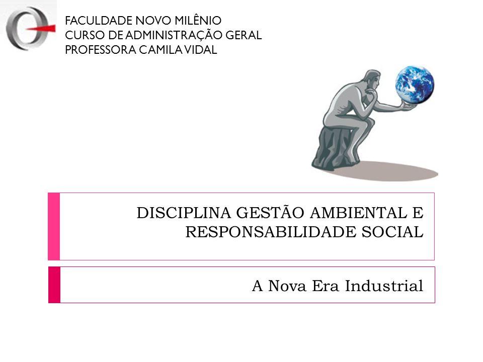 DISCIPLINA GESTÃO AMBIENTAL E RESPONSABILIDADE SOCIAL