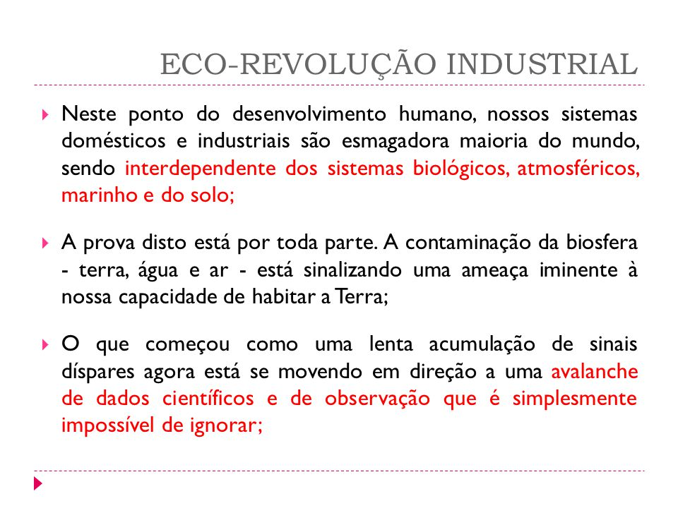 ECO-REVOLUÇÃO INDUSTRIAL