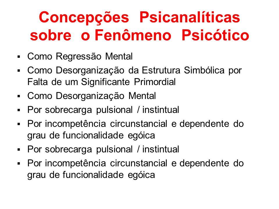Concepções Psicanalíticas sobre o Fenômeno Psicótico