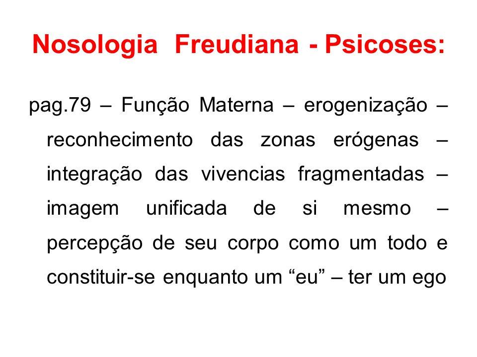 Nosologia Freudiana - Psicoses: