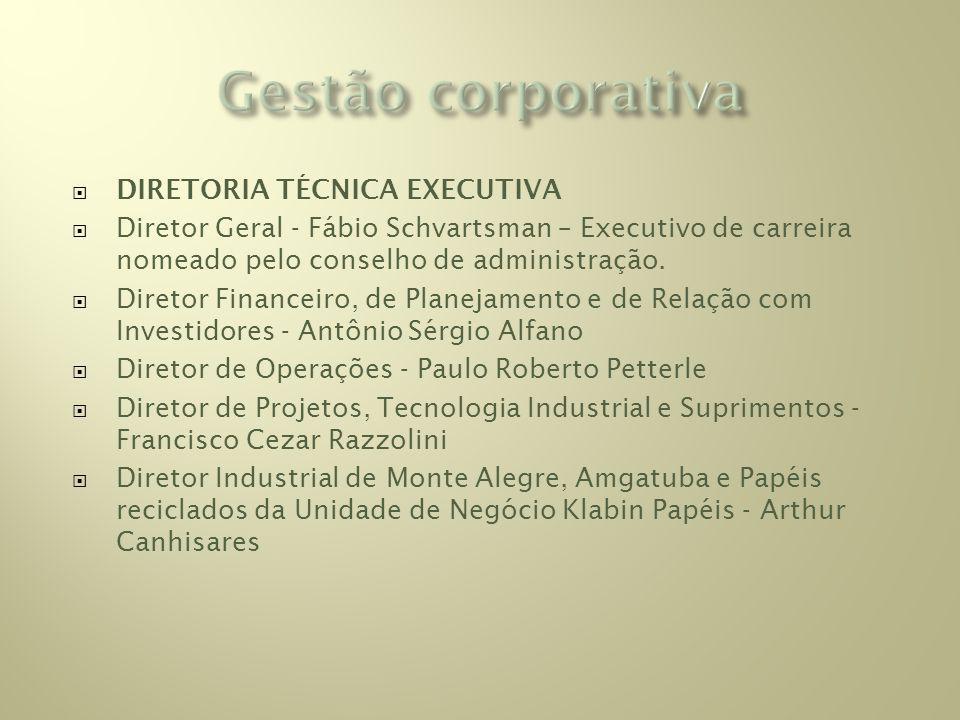 Gestão corporativa DIRETORIA TÉCNICA EXECUTIVA