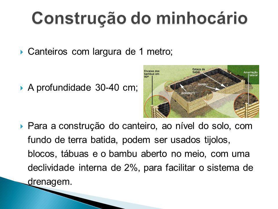 Construção do minhocário