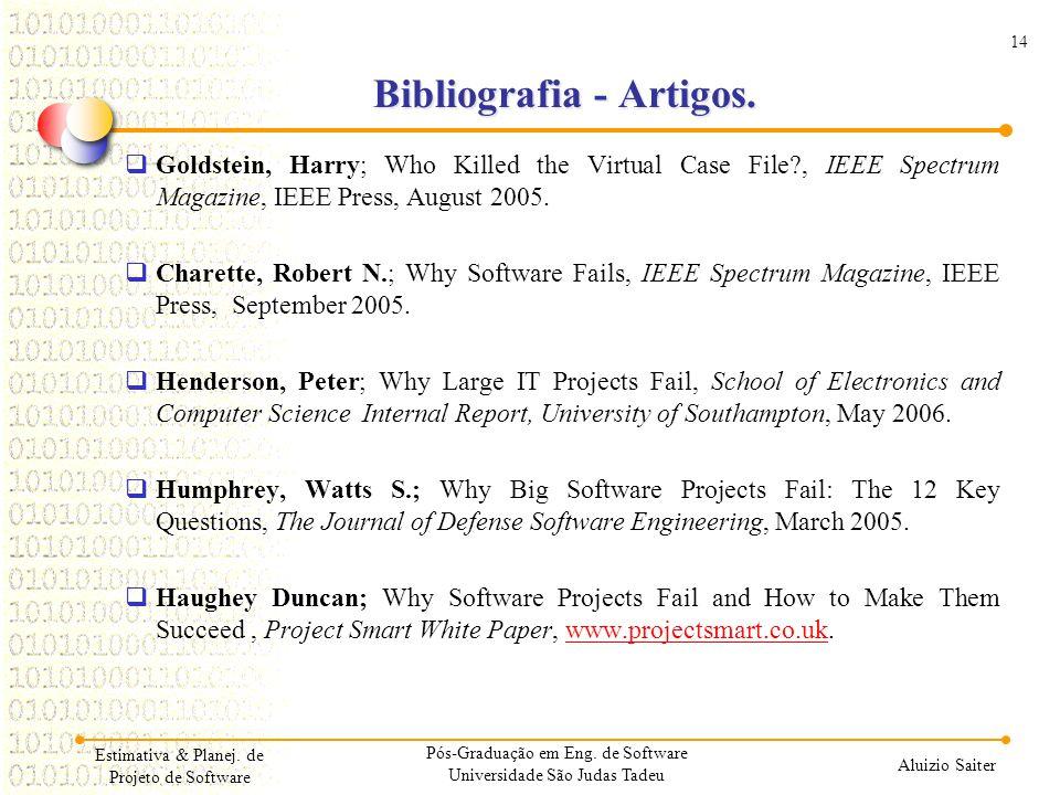 Bibliografia - Artigos.