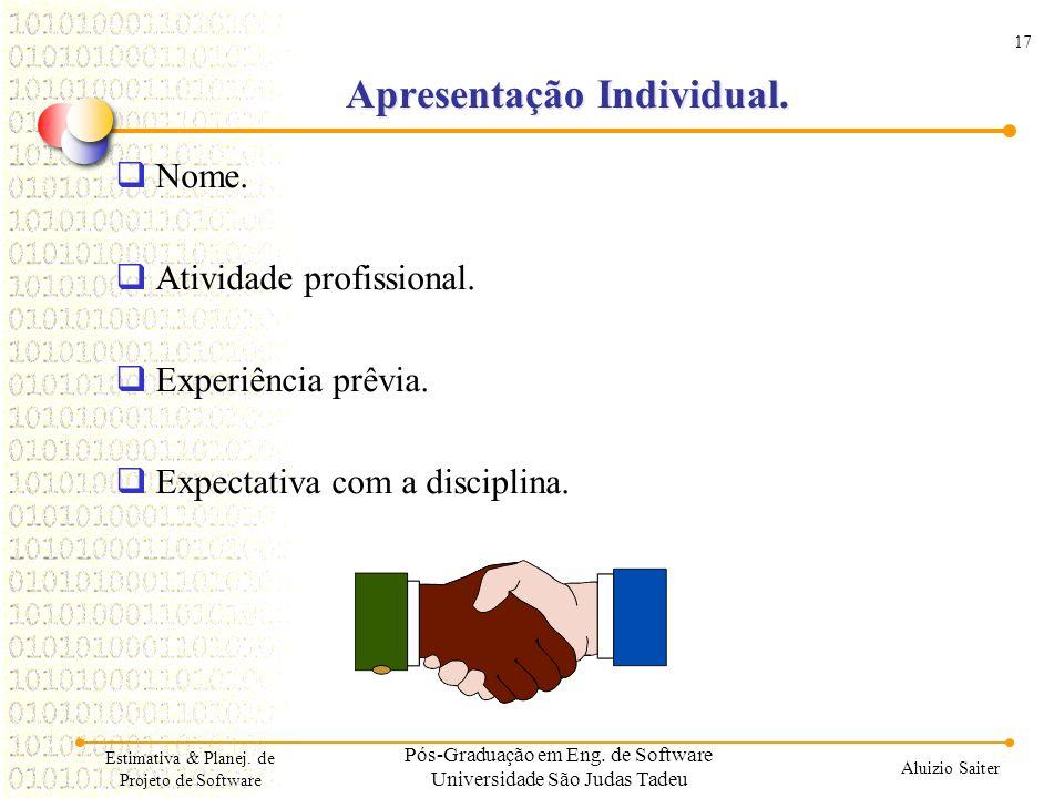 Apresentação Individual.