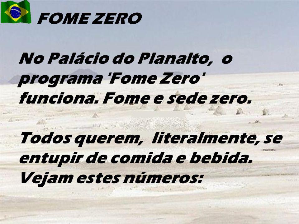 FOME ZERO No Palácio do Planalto, o programa Fome Zero funciona