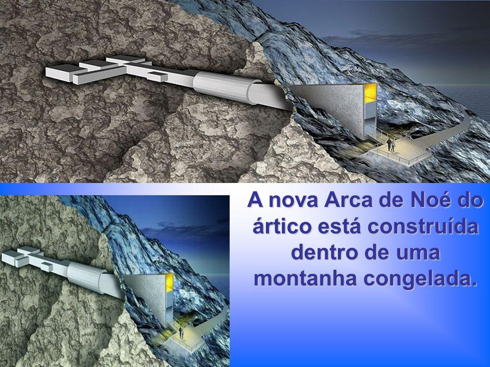 A nova Arca de Noé do ártico está construída dentro de uma montanha congelada.