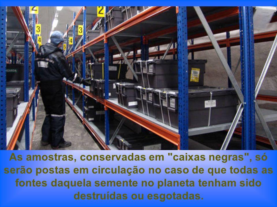 As amostras, conservadas em caixas negras , só serão postas em circulação no caso de que todas as fontes daquela semente no planeta tenham sido destruídas ou esgotadas.