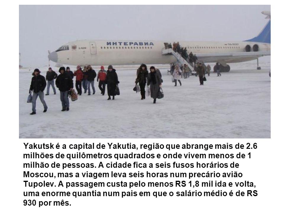 Yakutsk é a capital de Yakutia, região que abrange mais de 2