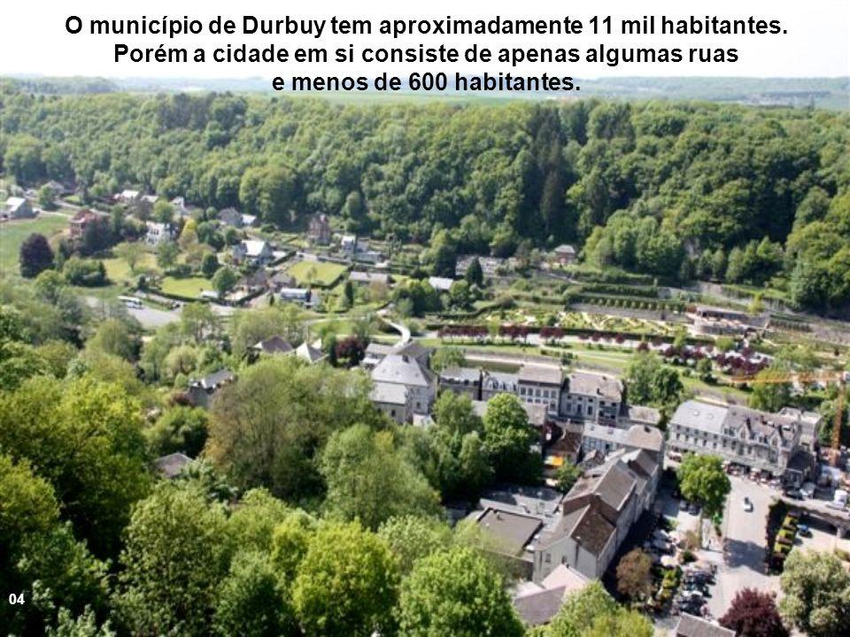 O município de Durbuy tem aproximadamente 11 mil habitantes