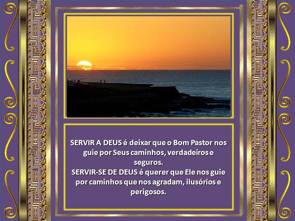 SERVIR A DEUS é deixar que o Bom Pastor nos guie por Seus caminhos, verdadeiros e seguros.