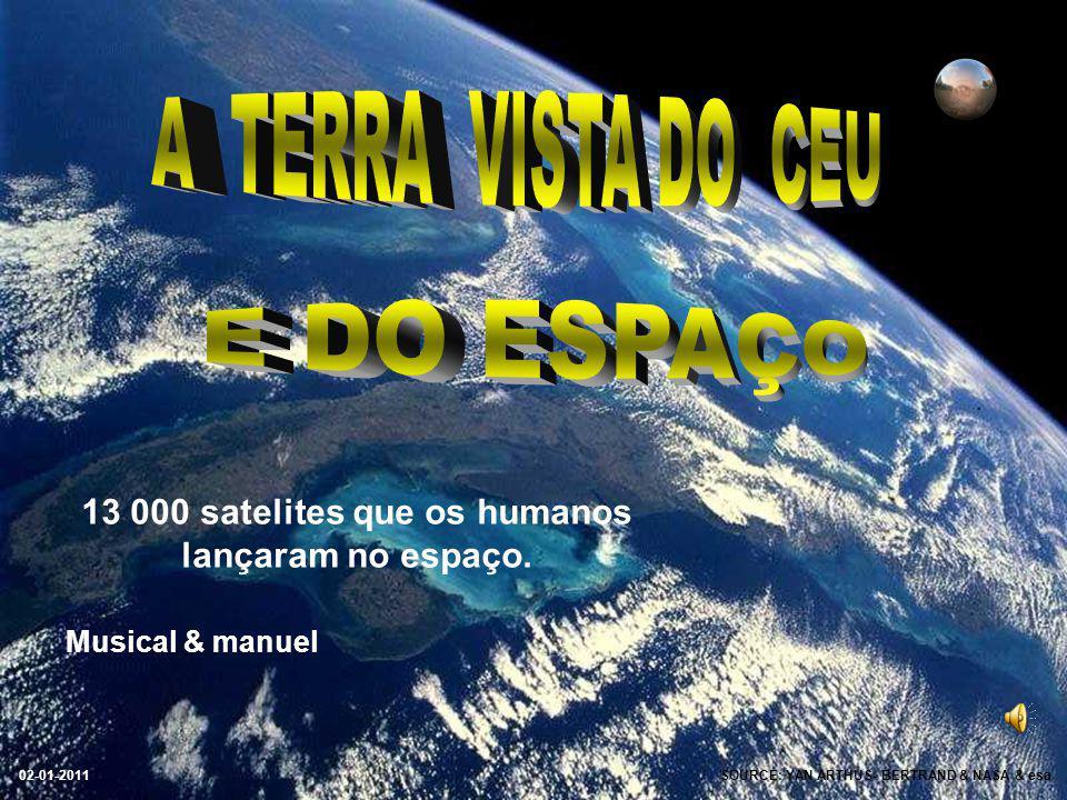 13 000 satelites que os humanos lançaram no espaço.