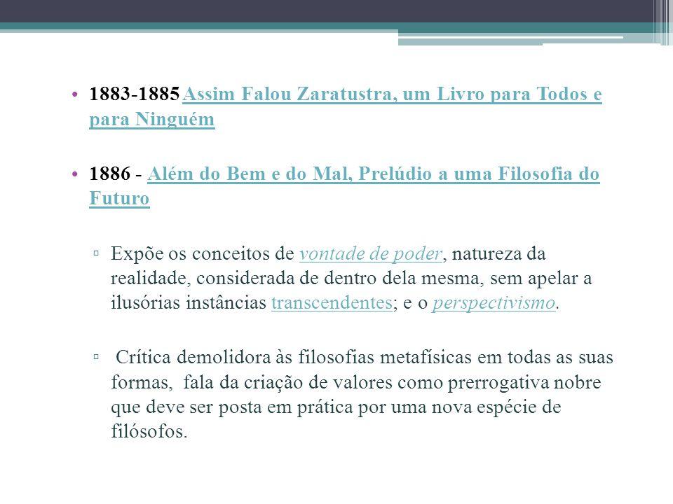 1883-1885 Assim Falou Zaratustra, um Livro para Todos e para Ninguém