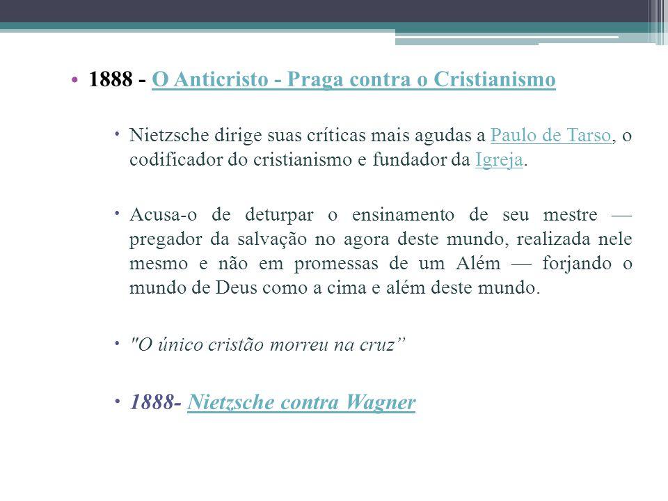 1888 - O Anticristo - Praga contra o Cristianismo
