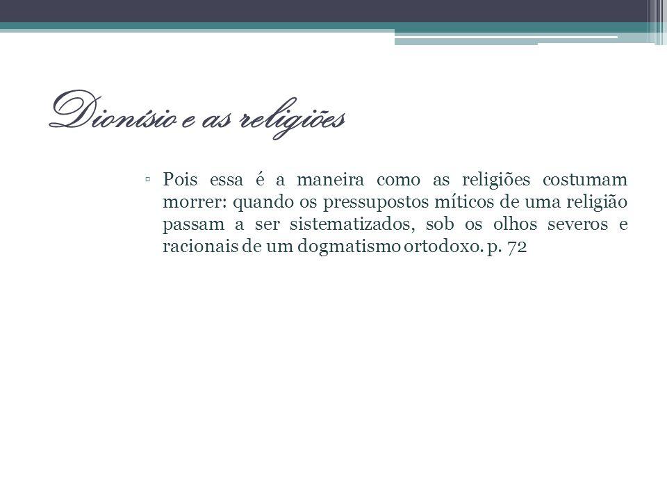 Dionísio e as religiões