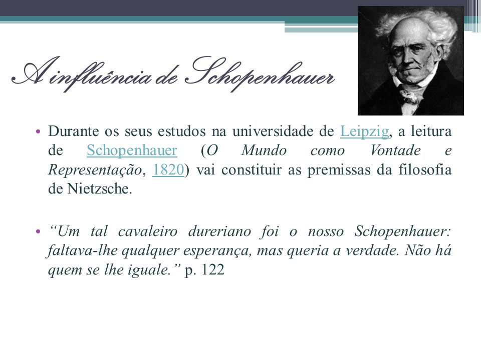 A influência de Schopenhauer