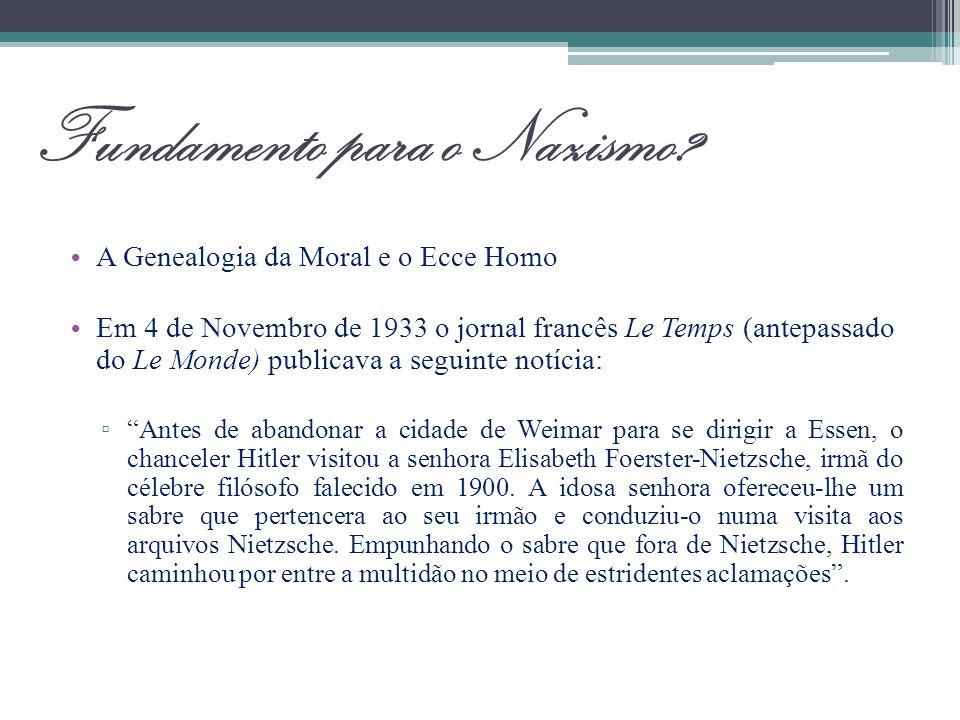 Fundamento para o Nazismo