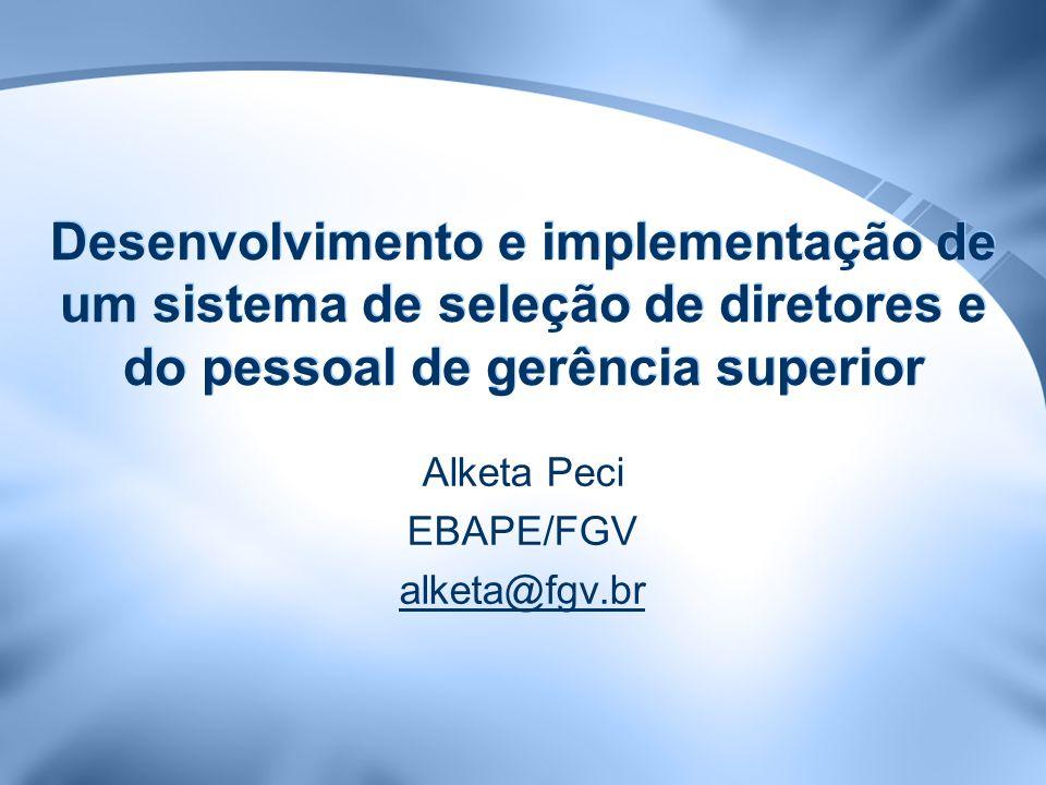 Alketa Peci EBAPE/FGV alketa@fgv.br
