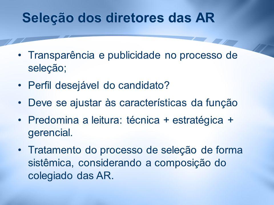 Seleção dos diretores das AR