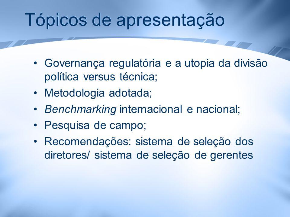 Tópicos de apresentação