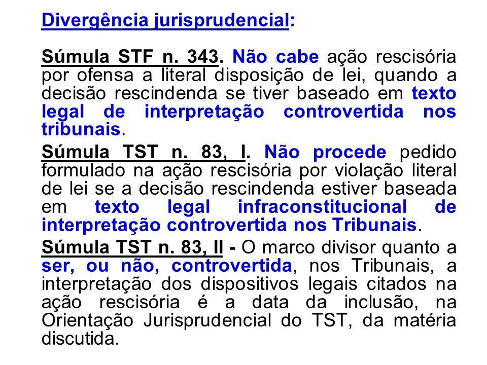 Divergência jurisprudencial: