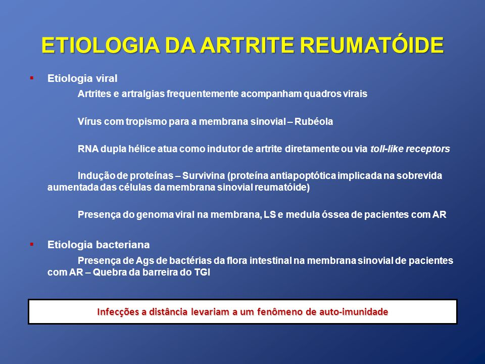 ETIOLOGIA DA ARTRITE REUMATÓIDE