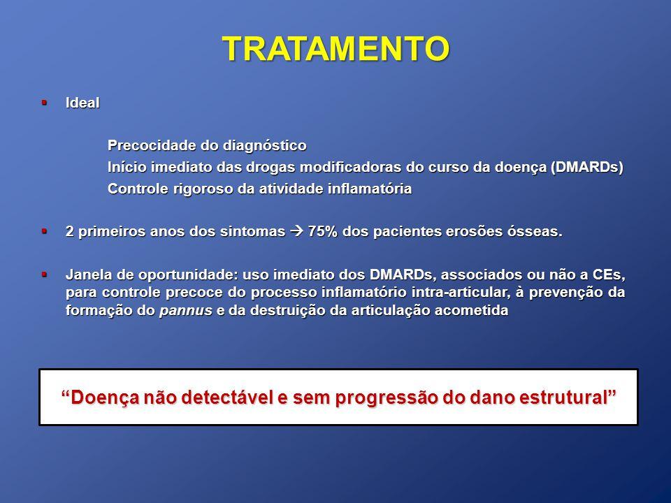 Doença não detectável e sem progressão do dano estrutural