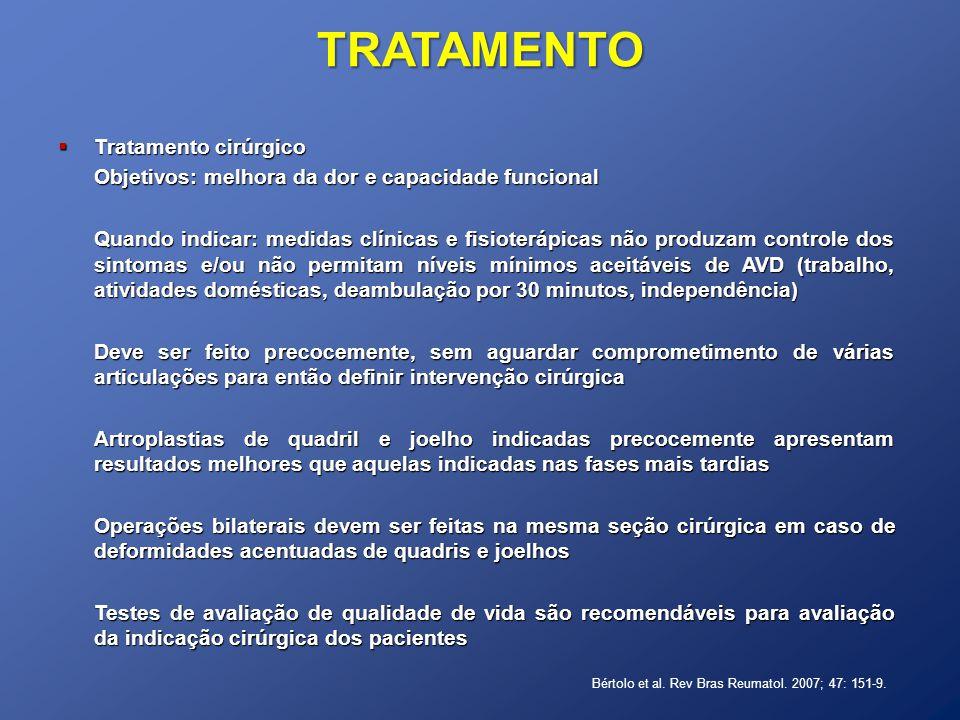 TRATAMENTO Tratamento cirúrgico