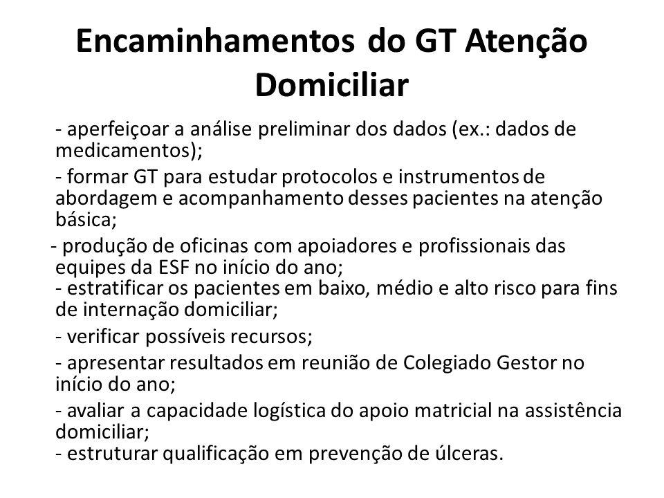 Encaminhamentos do GT Atenção Domiciliar