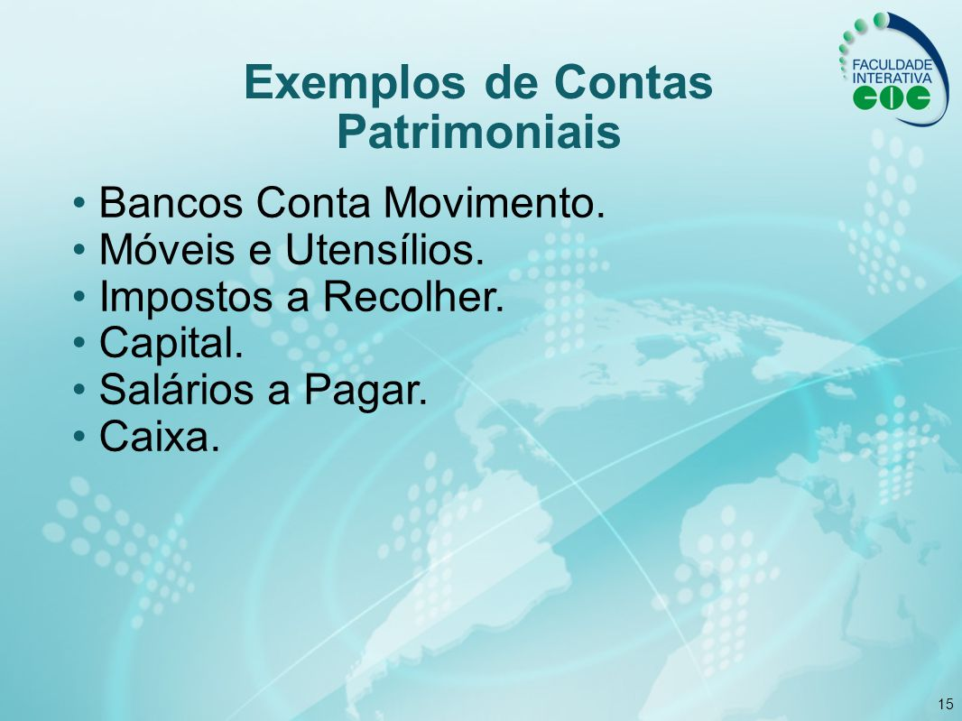 Exemplos de Contas Patrimoniais