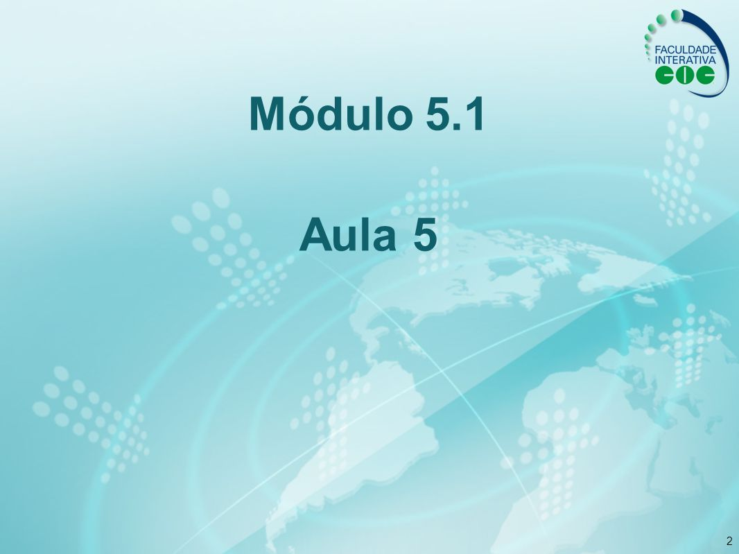 Módulo 5.1 Aula 5