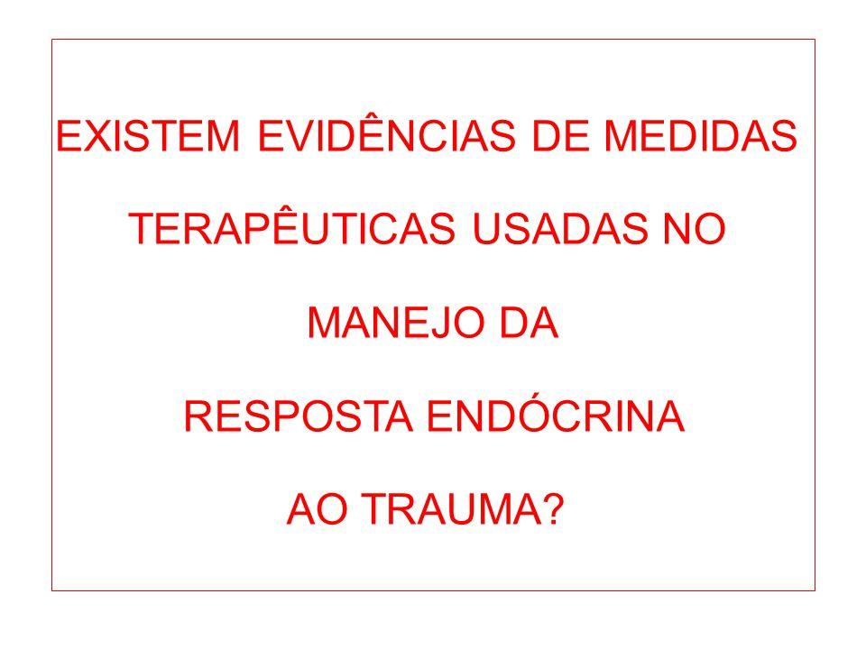EXISTEM EVIDÊNCIAS DE MEDIDAS TERAPÊUTICAS USADAS NO MANEJO DA