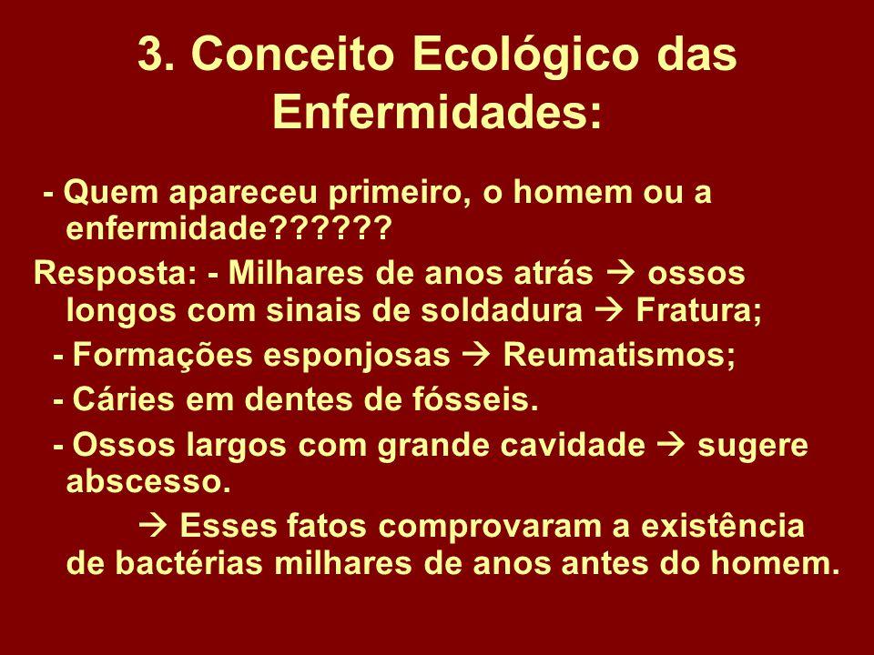 3. Conceito Ecológico das Enfermidades: